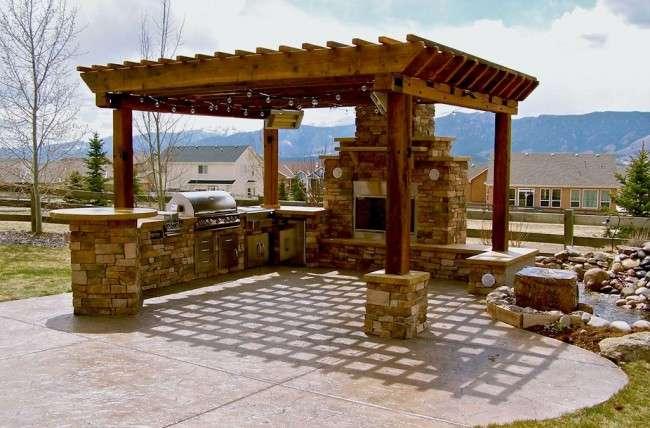 Альтанки з пічкою, мангал або барбекю (50 фото) — чудове місце для приємного відпочинку