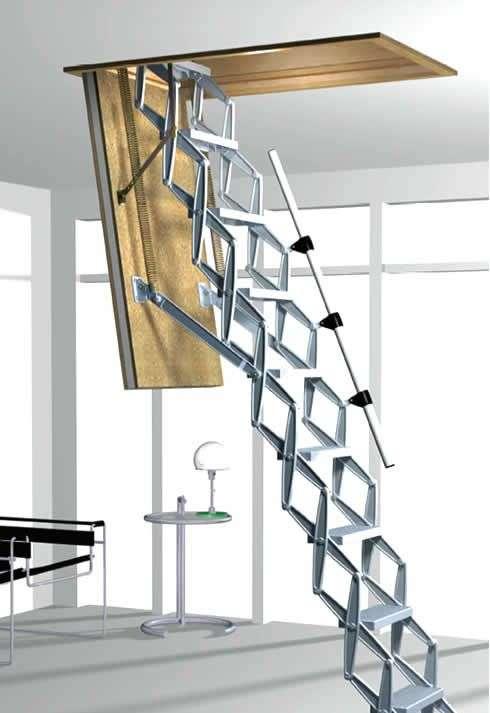 Горищні сходи з люком — модний помічник у домі