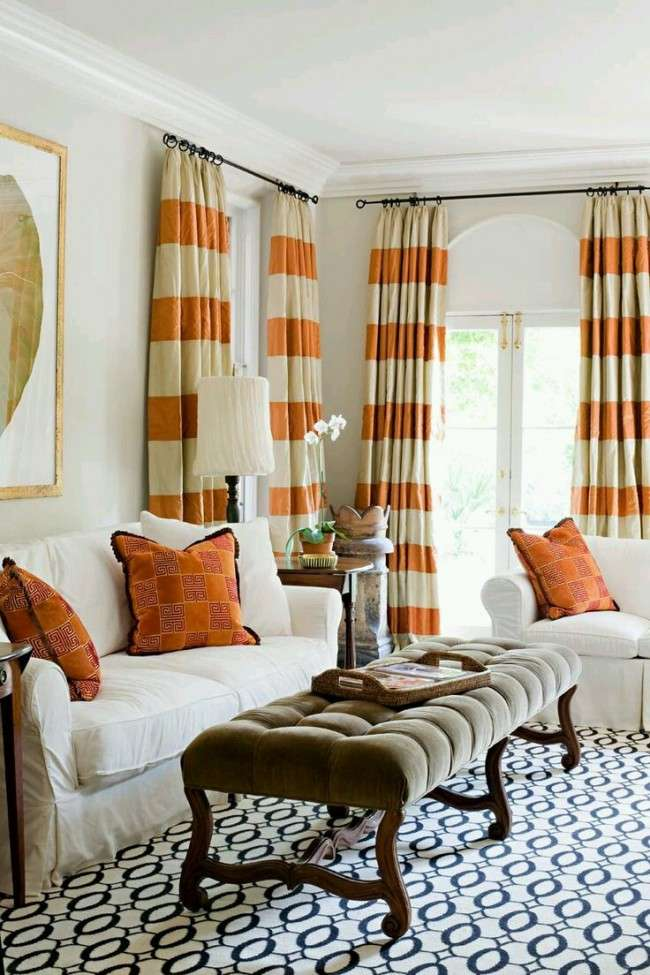 Дизайн штор для вітальні: 100 найстильніших і свіжих трендів