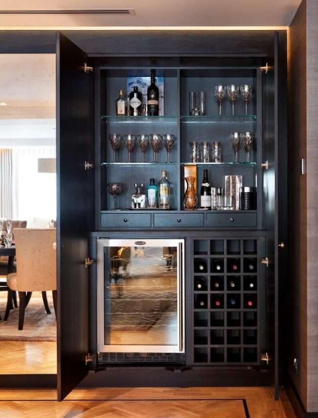 Домашній міні-бар: 80 кращих інтерєрних ідей для створення невеликої винотеки