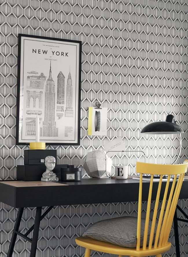 Вінілові шпалери на паперовій основі: хитрощі правильної поклейки і 60 універсальних дизайнерських ідей