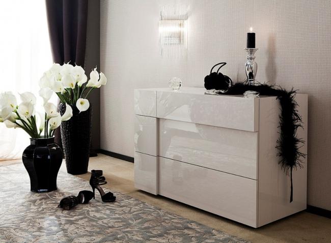 Білі глянцеві комоди: 70+ моделей, які втілюють стиль і інтерєрний пуризм