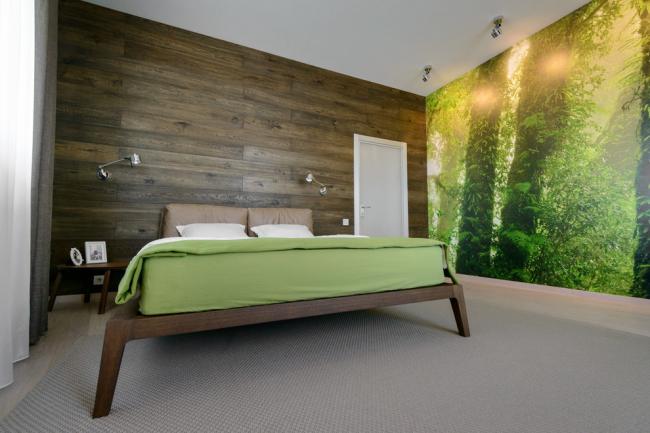 Ламінат на стіні у спальні: 80 затишних варіантів обробки для мінімалістичних інтерєрів