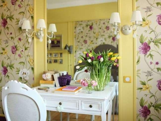 Обєднані шпалери для залу: як оригінально оформити кімнату?