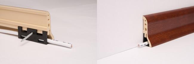 Підлогові широкі пластикові плінтуси: огляд переваг, монтаж своїми руками і догляд