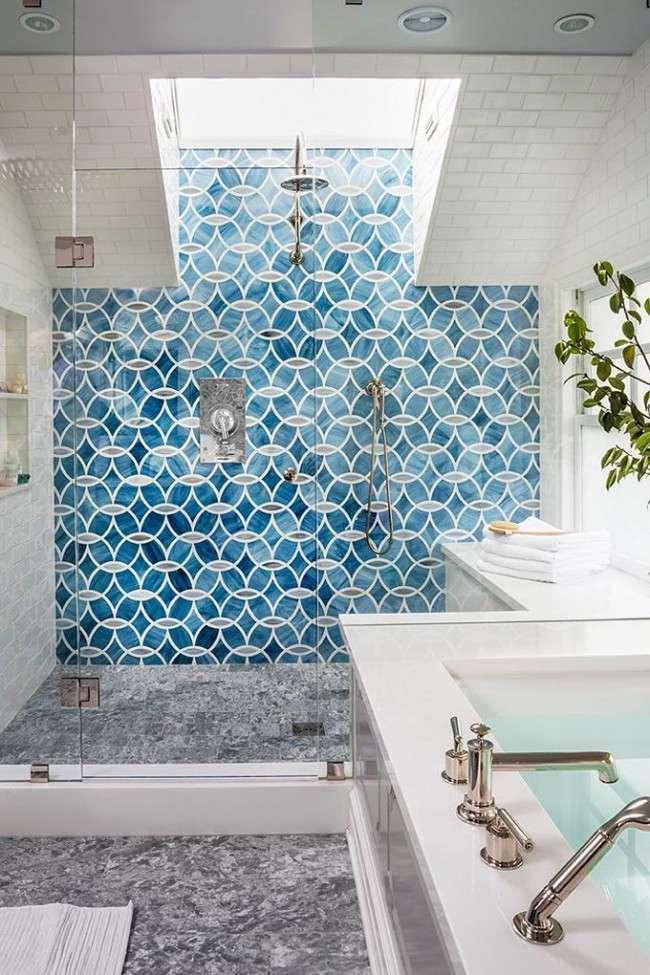 Кахель для ванної кімнати: мозаїка, печворк і 50+ самих свіжих дизайнерських трендів