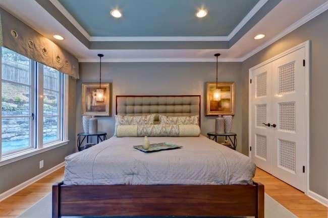 Стелі з гіпсокартону для спальні (80 фото): світ комфорту і стилю