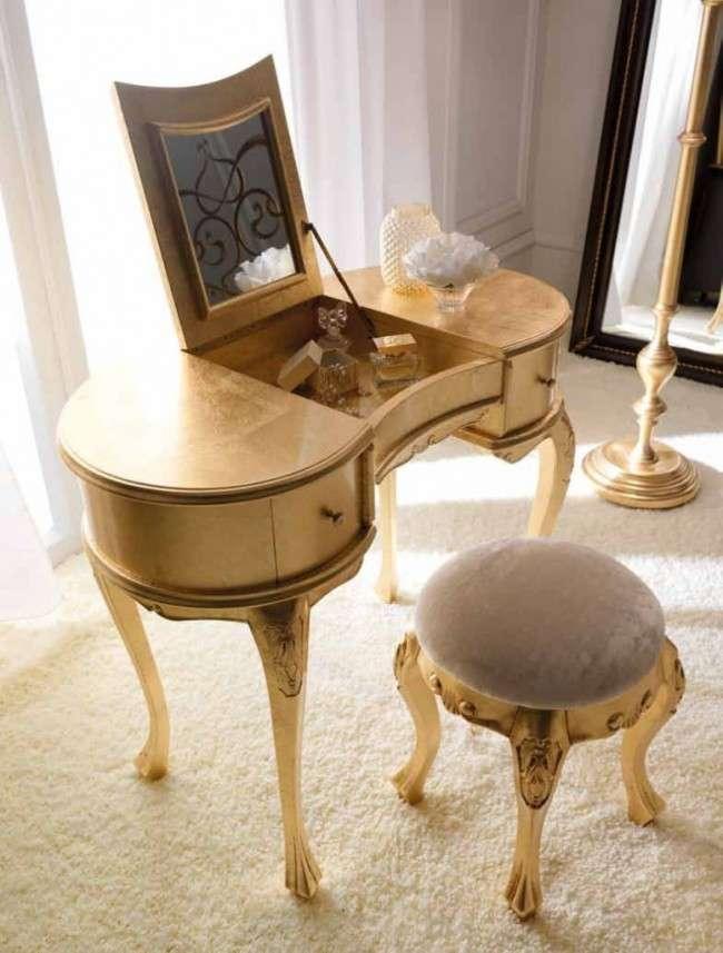 Шикарні реалізації туалетного столика з дзеркалом в інтерєрі (фото)