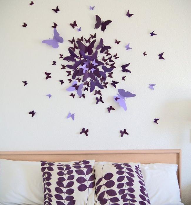 Метелики на стіні: 70 надихаючих фотоидей та майстер-клас з декору своїми руками