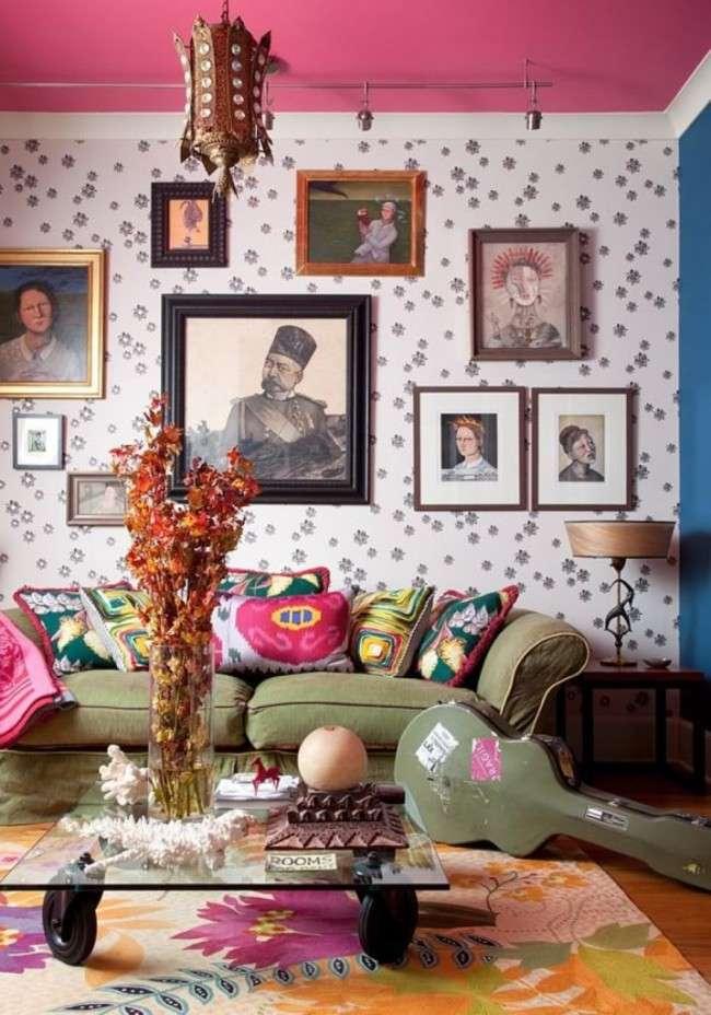 75 ексцентричних ідей бохо-стиль в інтерєрі: вигадлива розкіш і абсолютна свобода (фото)