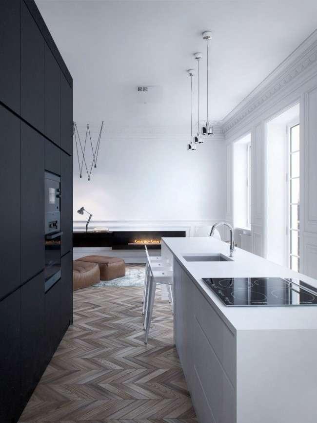 Чорно-біла кухня: 40+ фото як оформити мінімалістичний інтерєр
