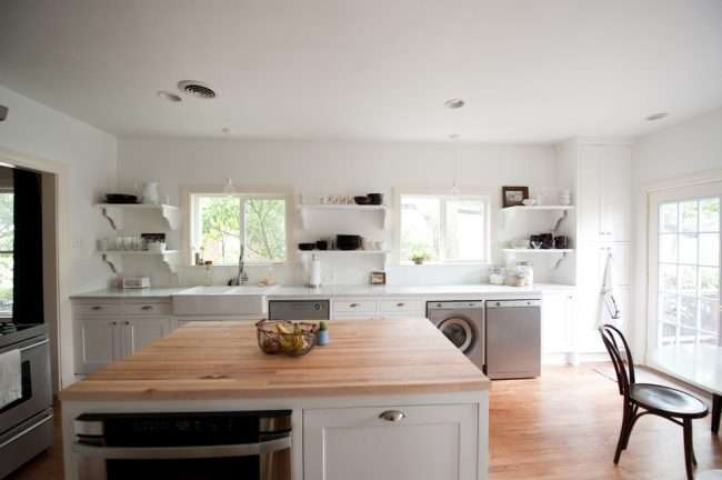 Вбудована пральна машина на кухні: поради щодо вибору та 60+ оптимальних варіантів розміщення
