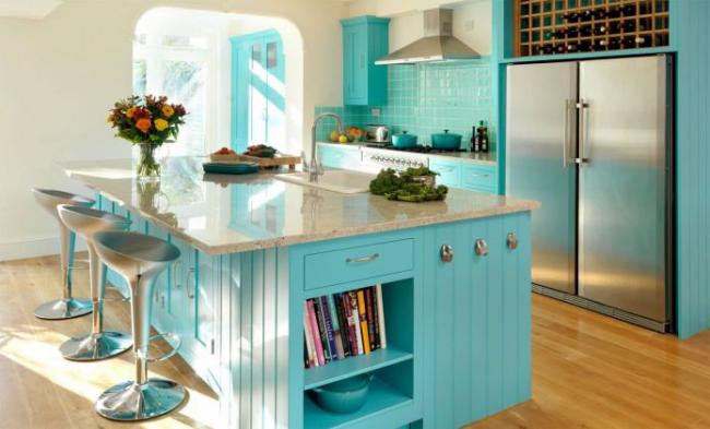 Колір Тіффані в інтерєрі: 70+ вишуканих дизайнерських трендів в голубій гамі