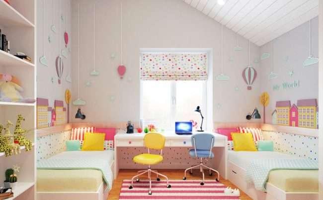 Дизайн дитячої кімнати для двох дітей: 70+ обраних ідей і секрети створення гармонійної обстановки