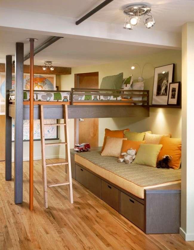 Дитяча двохярусна ліжко: як економити корисний простір для дитини