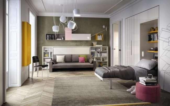 Диван-трансформер в двоярусне ліжко: 70 максимально зручних і практичних ідей для вашої квартири
