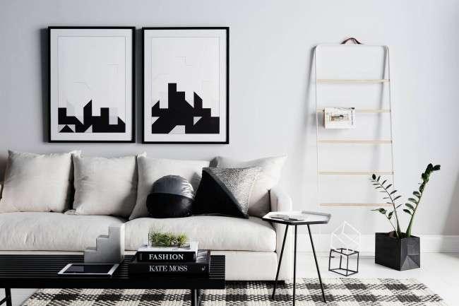 Дизайн чорно-білій вітальні: 40 надихаючих ідей елегантного монохрому