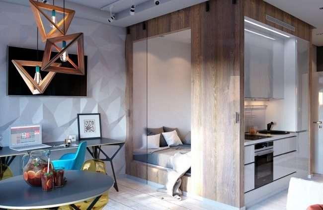 Дизайн квартири-студії: 80 трендів для створення сучасного і мультифункціонального інтерєру