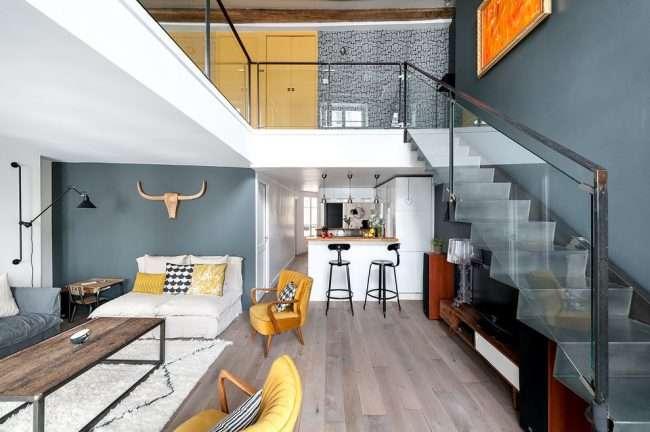 Дворівнева квартира: втілюємо в життя сміливий проект і огляд кращих планувань