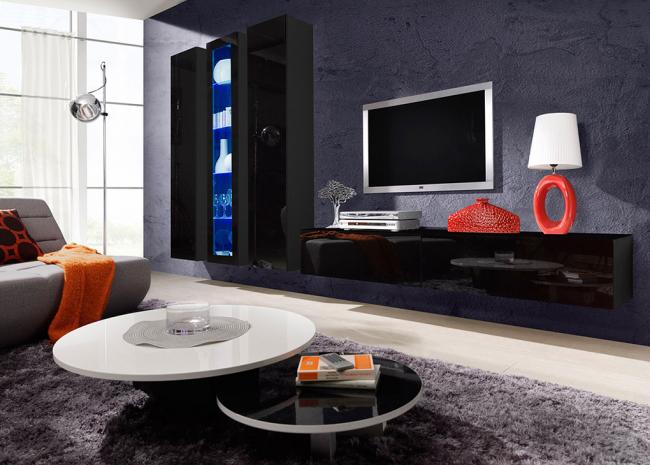 Глянсова меблі для вітальні: надаємо інтерєру акцентность і особливий лиск