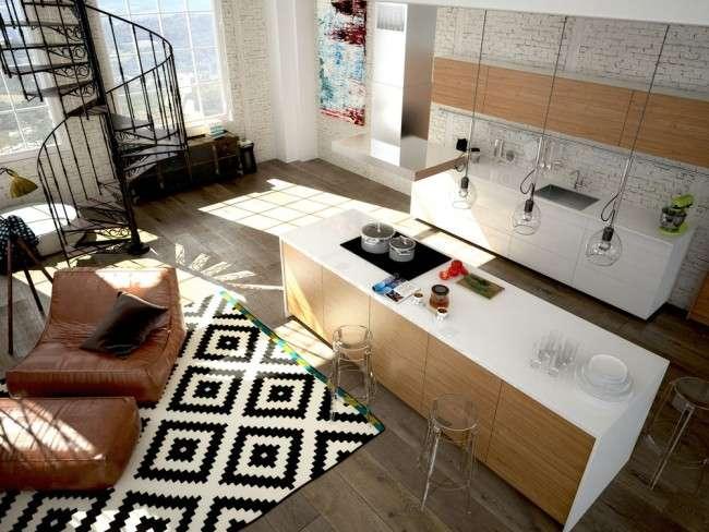Дизайнерський килим на підлогу: новий погляд на оформлення статі? (фото)