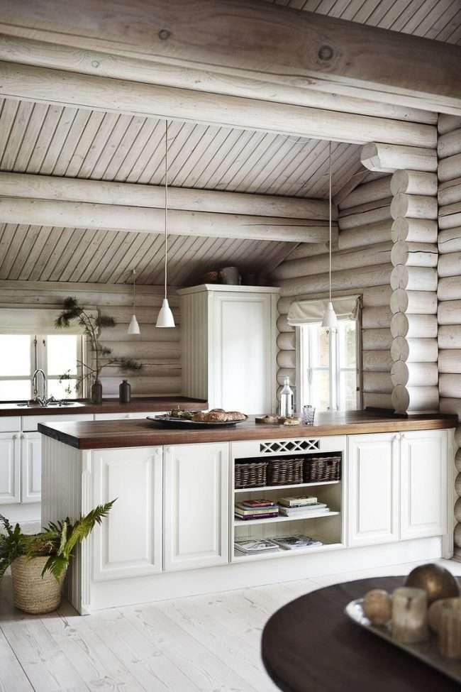Кухня в деревяному будинку: варіанти зонування і 85+ затишних дизайнерських рішень