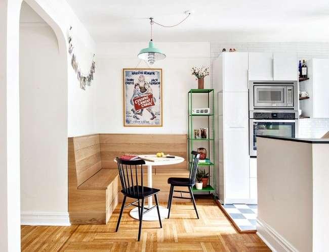 Кухонний куток для маленької кухні: види та переваги (фото)