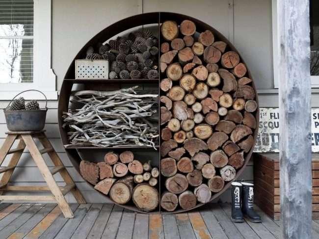 Дровянік своїми руками: 70+ зручних і простих у виконанні ідей для приватного будинку