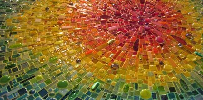 55 Арт ідей мозаїки своїми руками в саду і інтерєрі