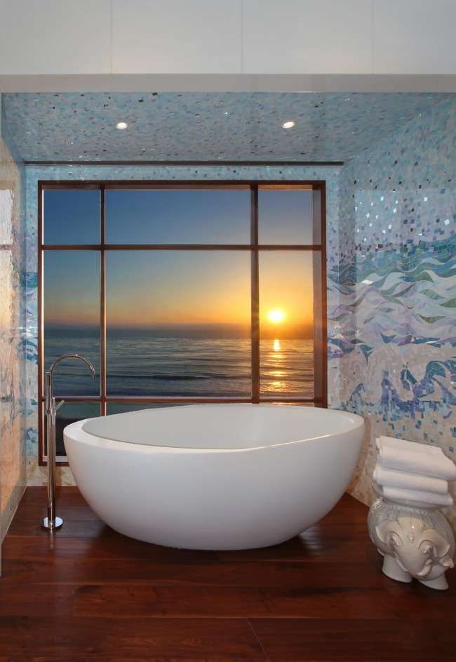 70 Ідей мозаїки у ванну кімнату: коли дизайн інтерєру стає твором мистецтва (фото)