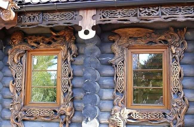 Лиштва на вікна в деревяному будинку: декоративна прикраса фасаду і 70+ оригінальних прикладів