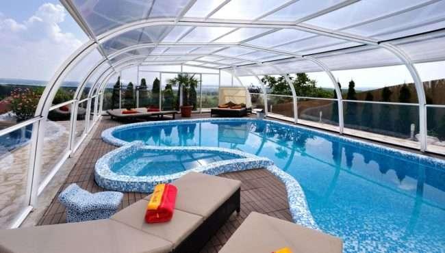 Навіси для басейну з полікарбонату: 75+ рішень для повноцінного відпочинку та релаксації