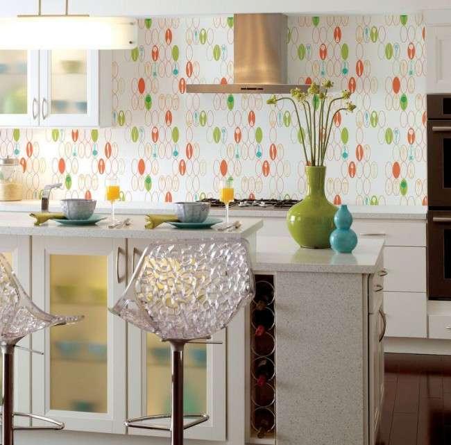 Шпалери для кухні: огляд найбільш смачних і свіжих тенденцій року в кухонному інтерєрі