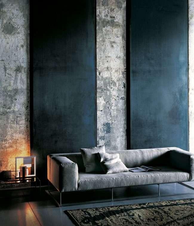 Шпалери під бетон: чарівність лофта в інтерєрі сучасної квартири
