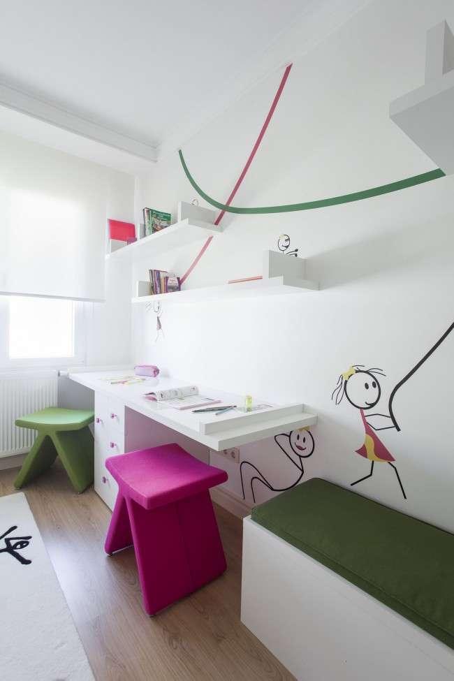 Вибираємо письмовий стіл для школяра: 75 сучасних моделей для дитячої кімнати