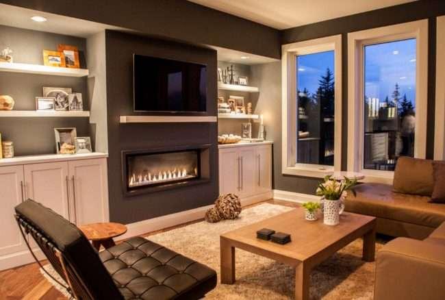 Полиця для телевізора на стіну: як зробити правильний вибір і 70 сучасних реалізацій