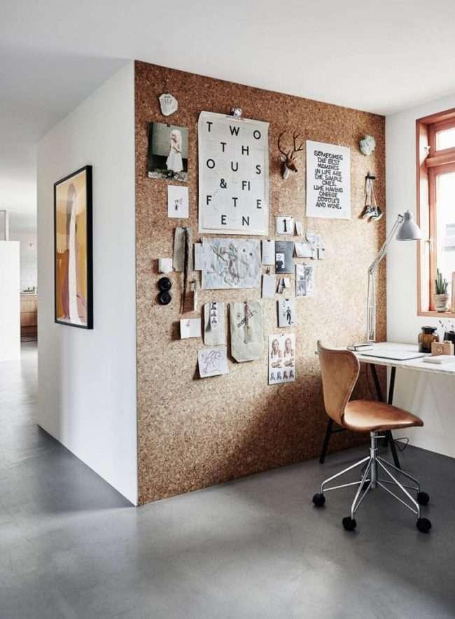 Коркові панелі для стін: естетика натуральності для сучасного будинку і 85 обраних інтерєрів