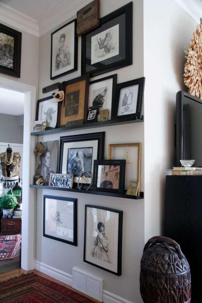 Рамки для фотографій на стіну: колажі для інтерєру і 80+ обраних рішень по композиції