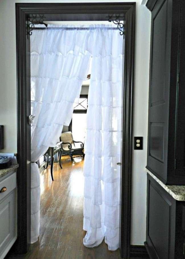 30+ Ідей штор на двері: витончений декор для дверних прорізів