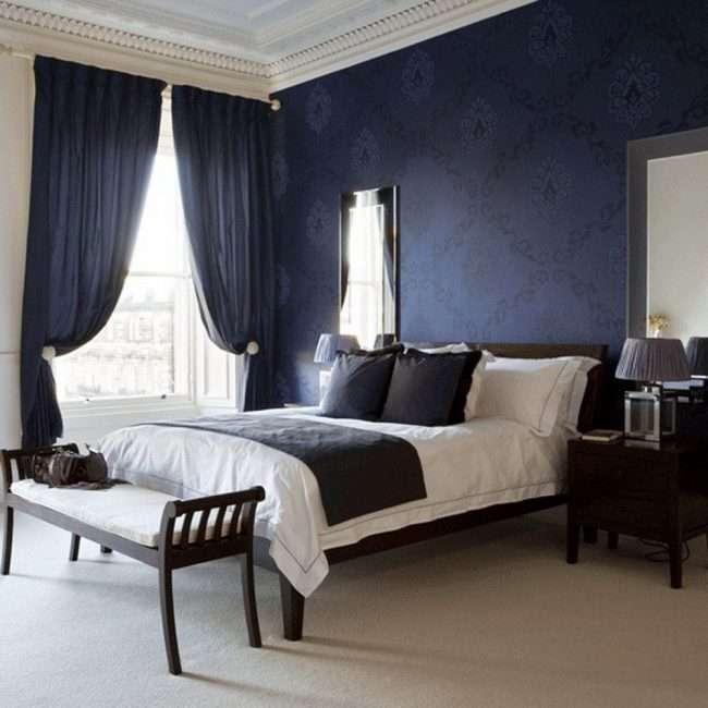 Сині шпалери в інтерєрі: 85 фотоидей для аристократичного оточення