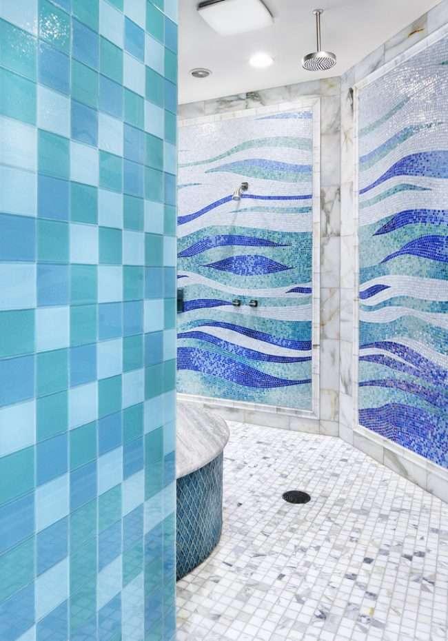 Синя ванна кімната: 75 елегантних інтерєрів в холодних тонах