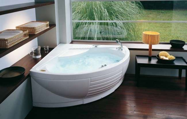 65 Ідей кутових ванн в інтерєрі: все про існуючих видах, розмірах і формах