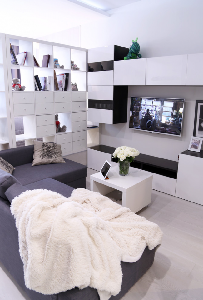 Кращі ідеї зонування однокімнатної квартири: як грамотно розмежувати простір?
