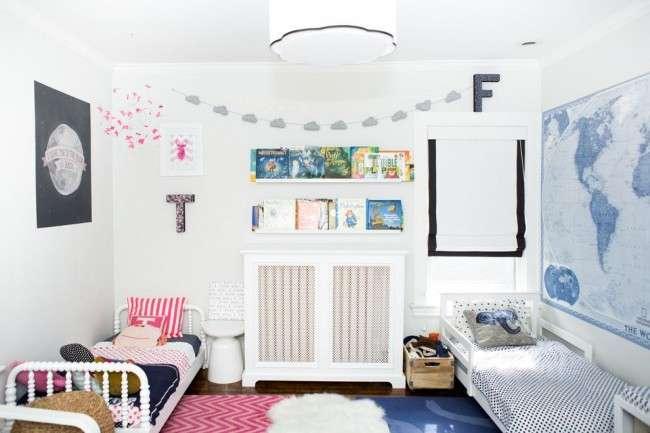 Дитяча кімната для різностатевих дітей  50+ гармонійних варіантів  організації простору 542fa1204ce21